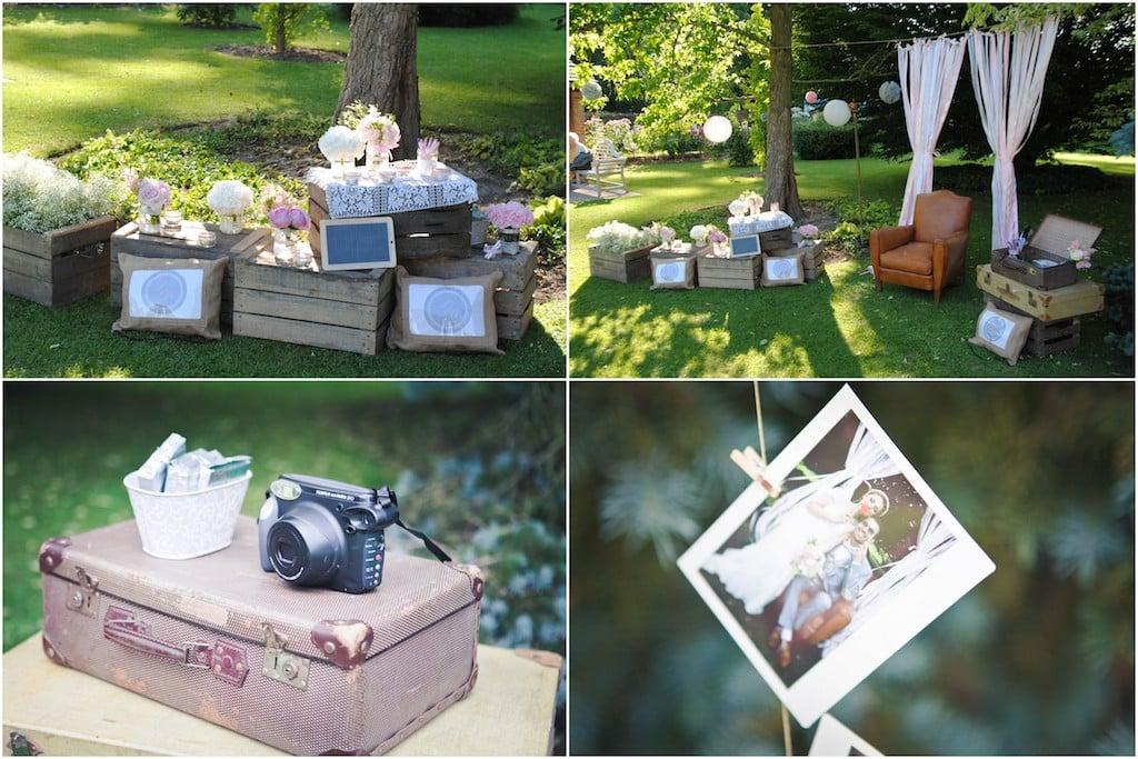 craquez pour ce mariage vintage dans les tons rose ancien et gris clair. Black Bedroom Furniture Sets. Home Design Ideas