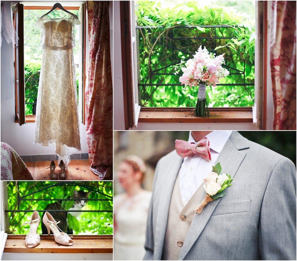Craquez pour ce mariage vintage dans les tons rose ancien et gris clair - Deco mariage chic et romantique ...