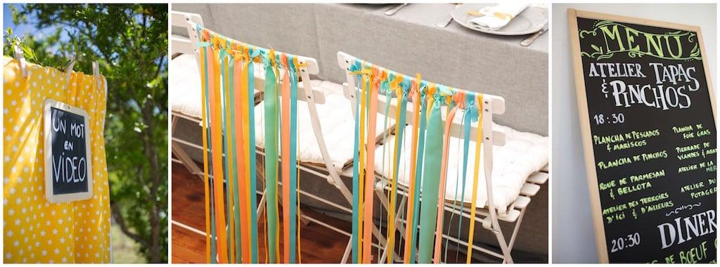rubans chaises maries