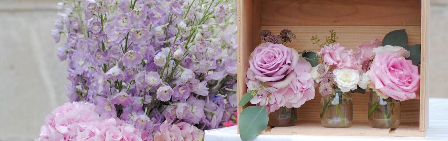 mariage rose et violet