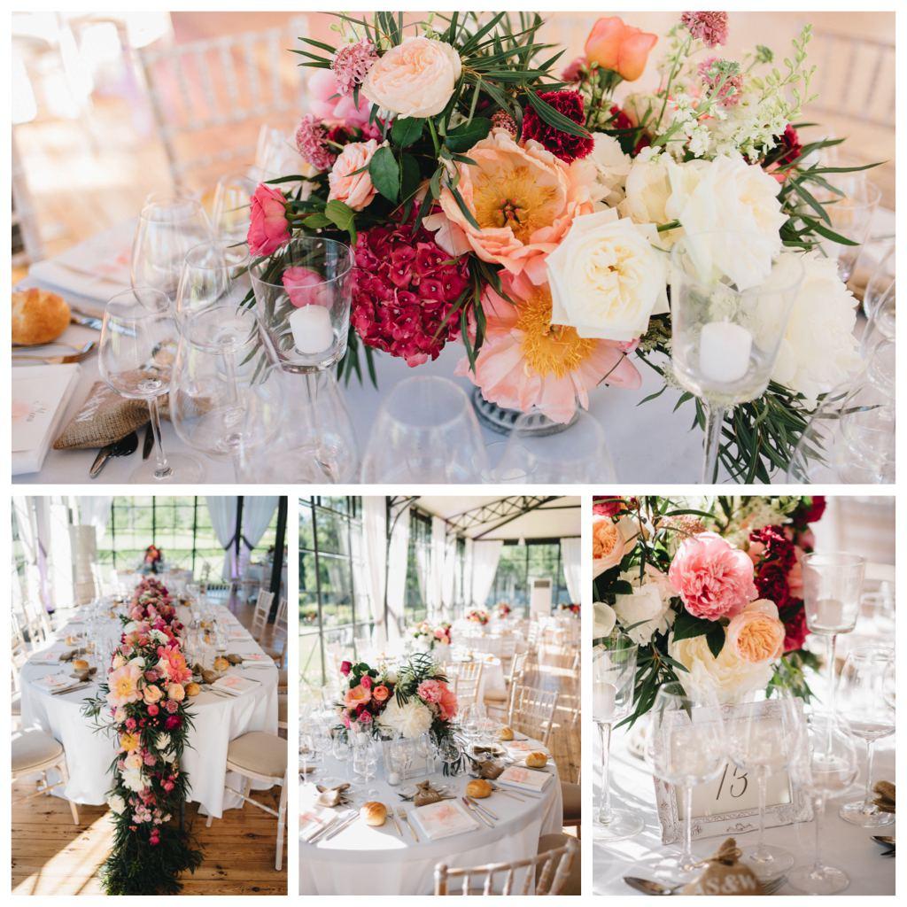 guirlande fleurs table d honneur