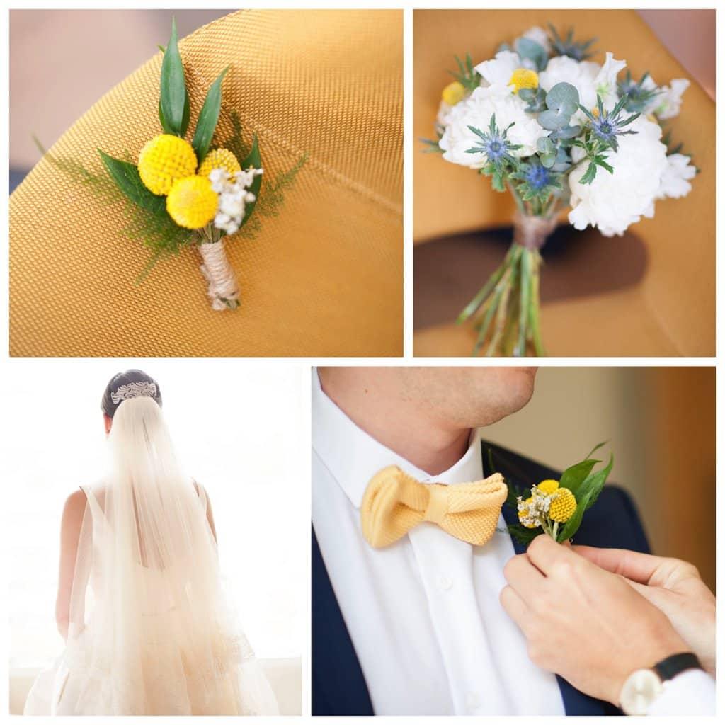mariage vert et jaune