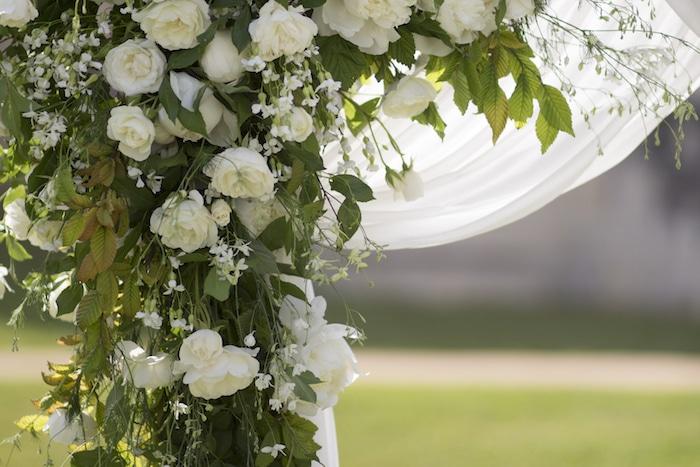 arche ceremonie vert et blanc