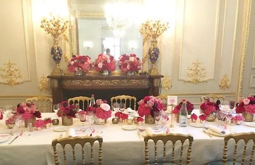 table d honneur fleurie