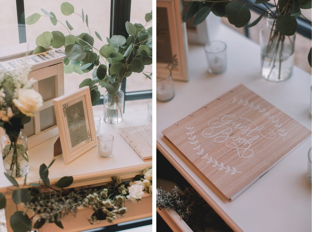 table livre d'or végétale