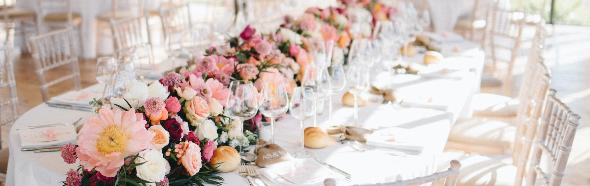 guirlande fleurie table