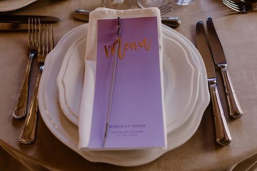 menu lavande