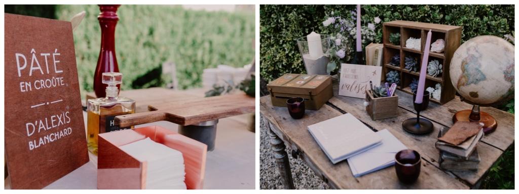 table livre d or rustique