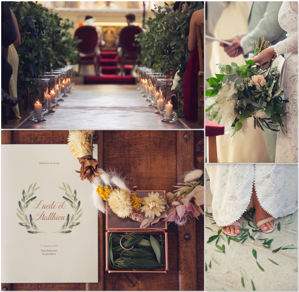 mariage herbes de pampa